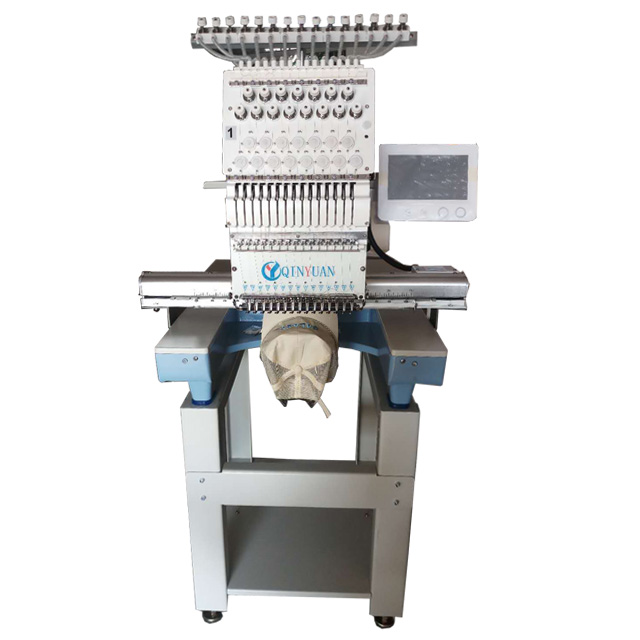 Flat/cap embroidery machine QY-D single head large computer embroidery machine