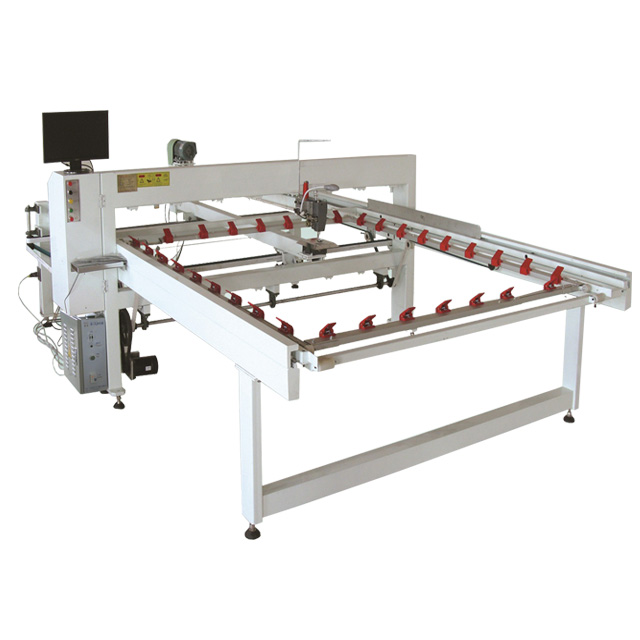 longer arm manufacturing machines quilt production line, computerized Qy-2 single needle quilting machine