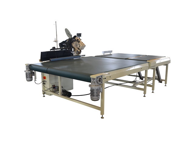 Lock stitch mattress tape edge machine