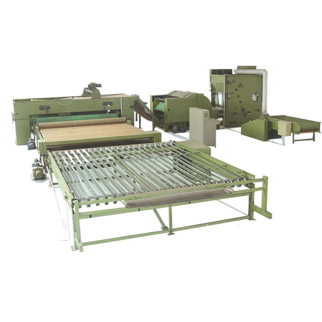 Bale opener machine, nonwoven padding machine, quilt stuffing machine