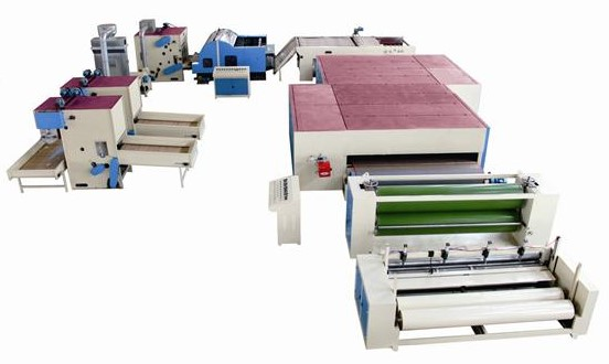Nonwoven padding machines/polyester wadding production line for rolls