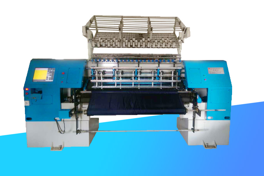 New computer-controlled high speed lock stitch multi needle quilting machine