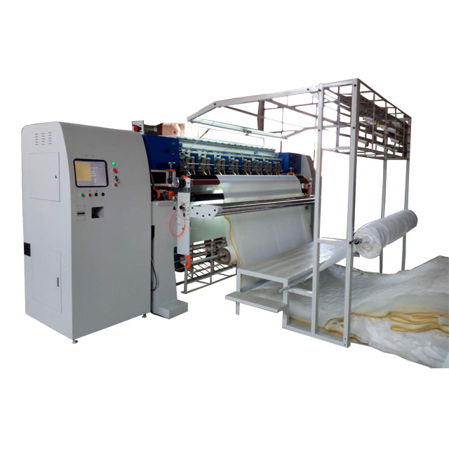 Computerized industrial 96 inch high speed chain stitch multi needle quilting machine