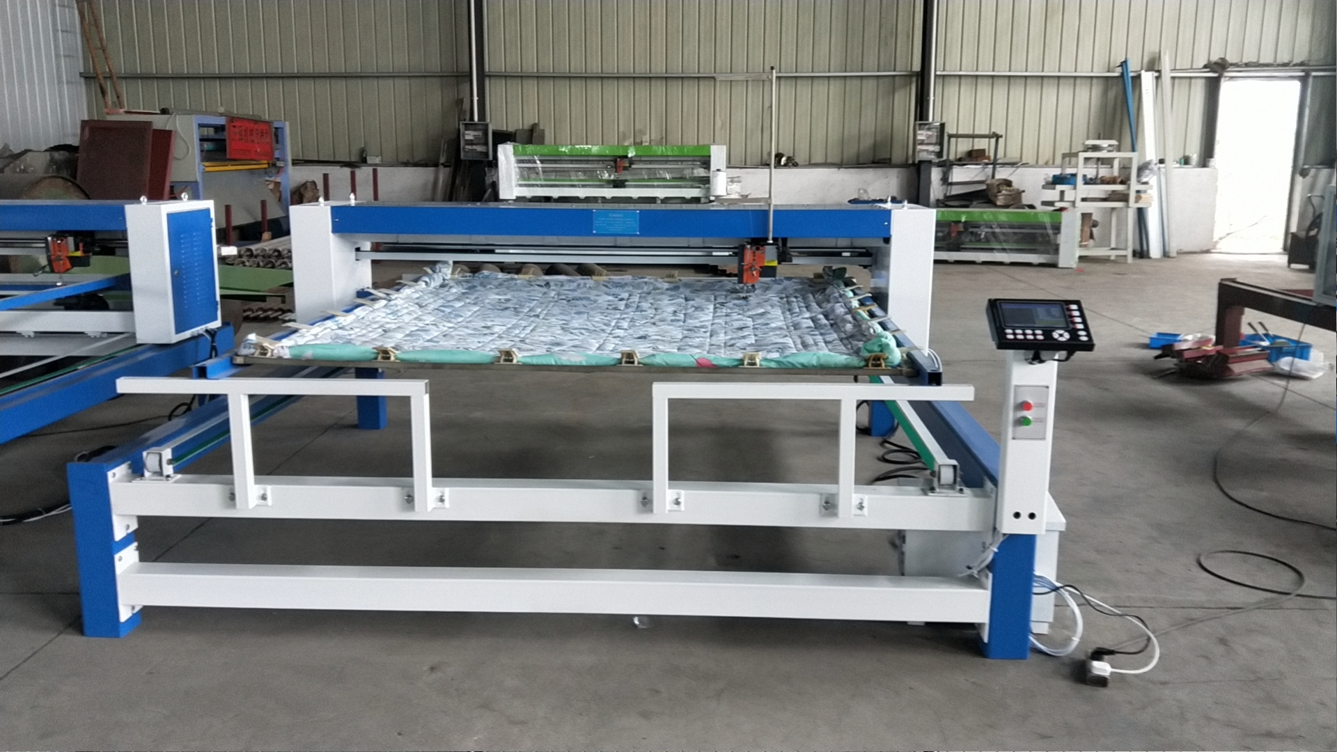 Export single needle quilting machine to Iran